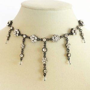 Jewelry - 90's Crystal Flower Titanic Style Necklace Set